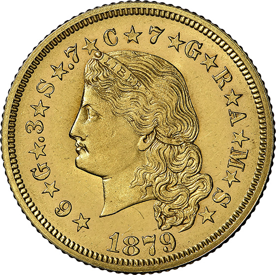 Picture of 1879 $4 STELLA, FLOWING HAIR PR65