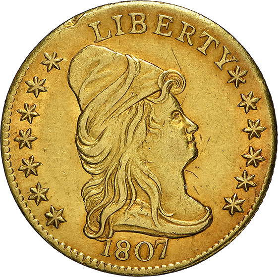 Picture of 1807 DRAPED BUST $2.5 MS61