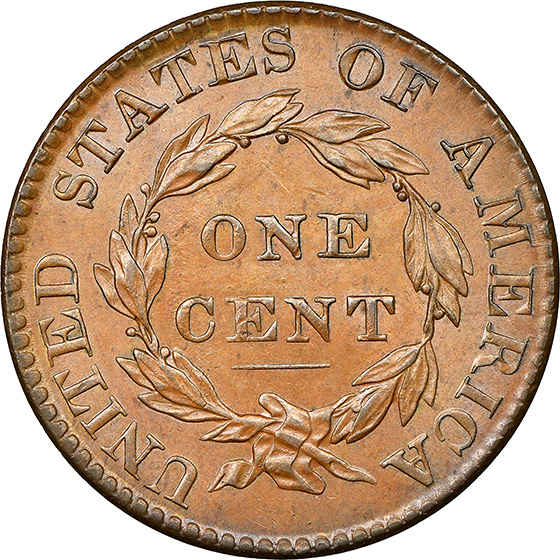 Picture of 1824 CORONET HEAD 1C MS65 Brown