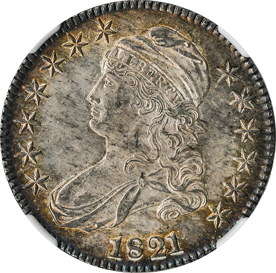 Picture of 1821 CAPPED BUST 50C MS65