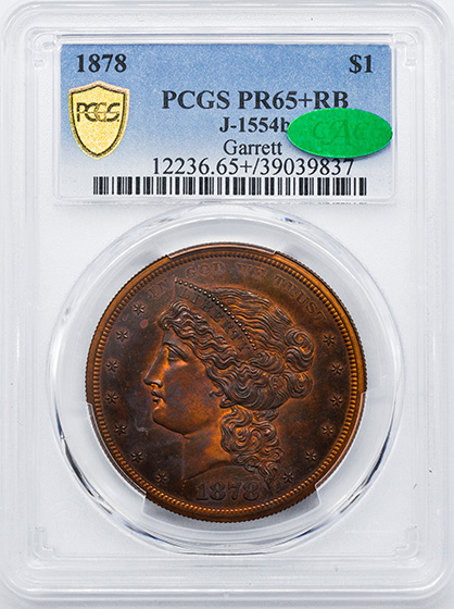 Picture of 1878 STANDARD $1 J-1554b PR65+ Red Brown