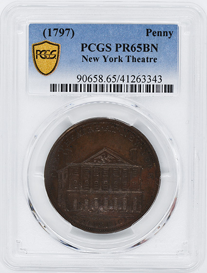 Picture of 1797 NEW YORK THEATRE PENNY PR65 Brown