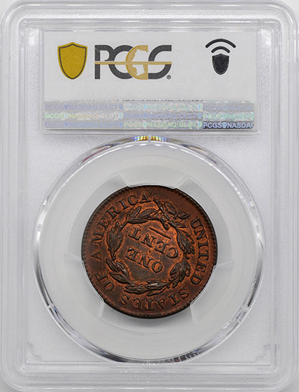 Picture of 1833 CORONET HEAD 1C MS66 Red Brown