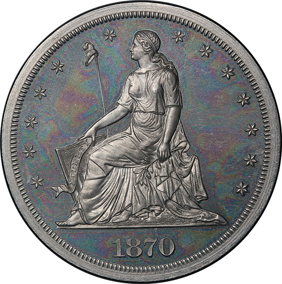 Picture of 1870 STANDARD $1, J-1001 PR64 Cameo