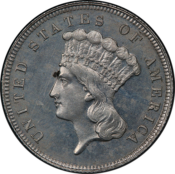Picture of 1885 $3 J-1753 PR64