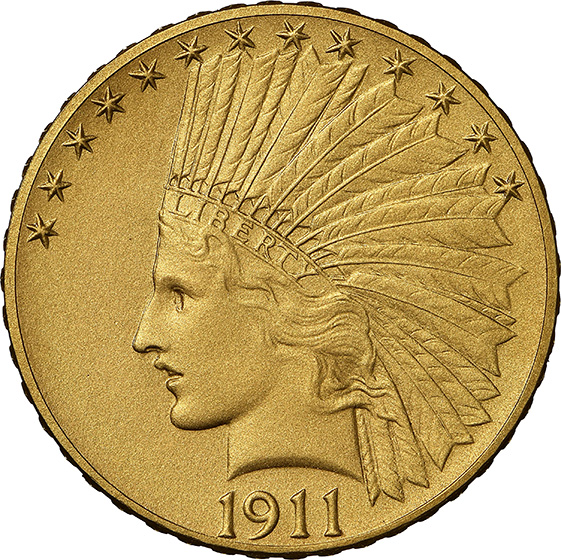 Picture of 1911 INDIAN $10 PR67