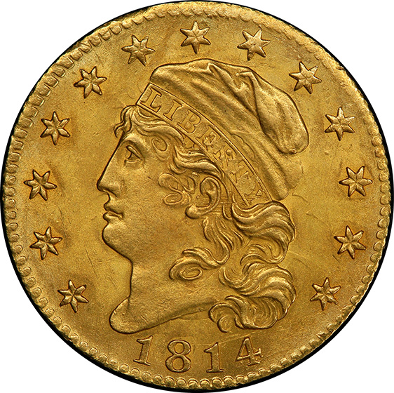 Picture of 1814/3 CAPPED BUST $5 MS62+