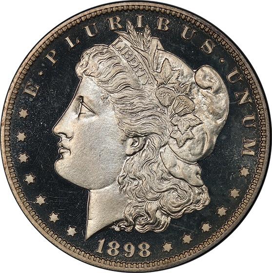 Picture of 1898 MORGAN S$1 PR67+ Deep Cameo