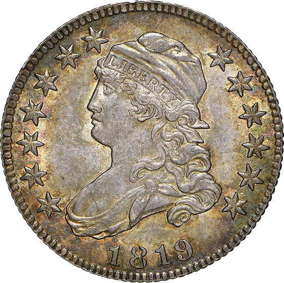 Picture of 1819 CAPPED BUST 25C, SMALL 9 MS64