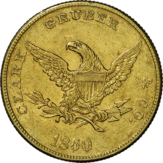 Picture of 1860 CLARK GR $10 MS60