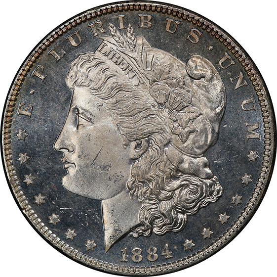Picture of 1884 MORGAN S$1 MS65 DMPL