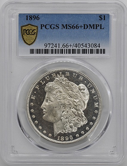 Picture of 1896 MORGAN S$1 MS66+ DMPL