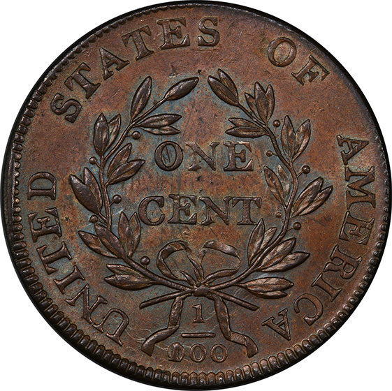 Picture of 1803 DRAPED BUST 1C, 100/000 MS64 Brown