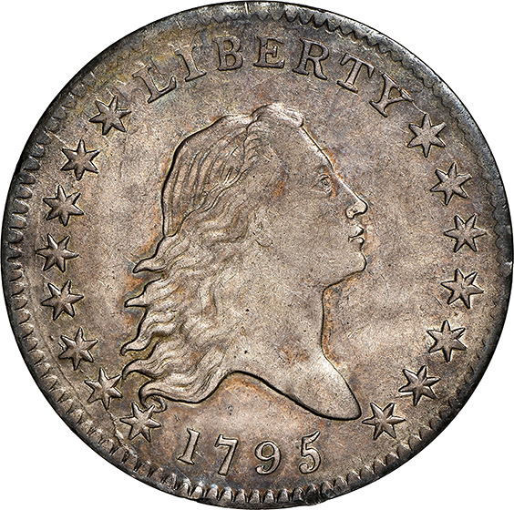 Picture of 1795 FLOWING HAIR 50C AU58+