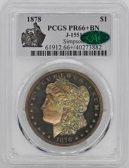 Picture of 1878 MORGAN $1 J-1551 PR66+ Brown