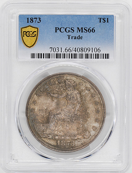 Picture of 1873 TRADE T$1 MS66