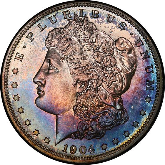 Picture of 1904 MORGAN S$1 PR67+