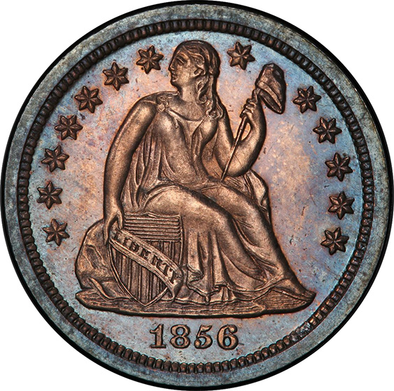 Picture of 1856 LIBERTY SEATED 10C, SMALL DATE PR66
