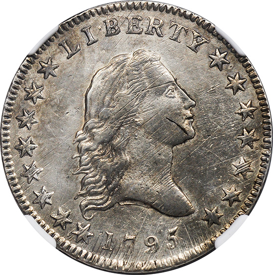 Picture of 1795 FLOWING HAIR 50C, SMALL HEAD AU55