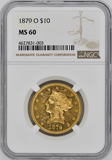 Picture of 1879-O LIBERTY HEAD $10 MS60