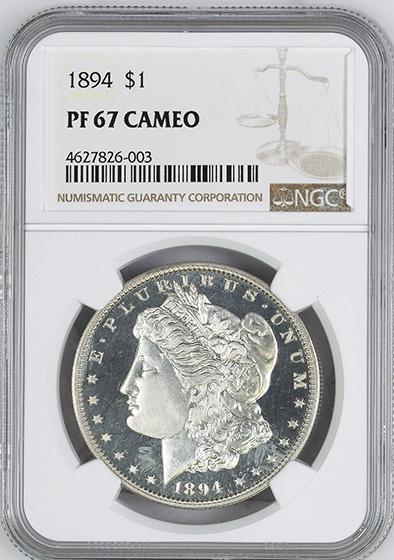 Picture of 1894 MORGAN S$1 PR67 Cameo