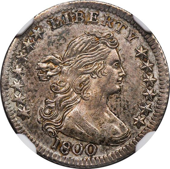 Picture of 1800 DRAPED BUST H10C, LIBEKTY MS64