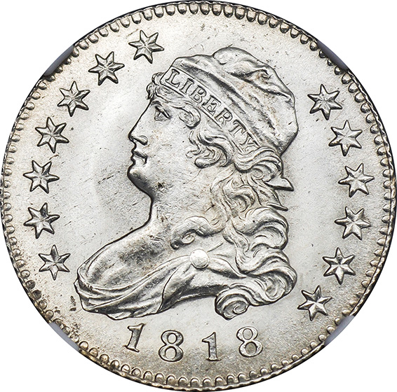 Picture of 1818/5 CAPPED BUST 25C MS66