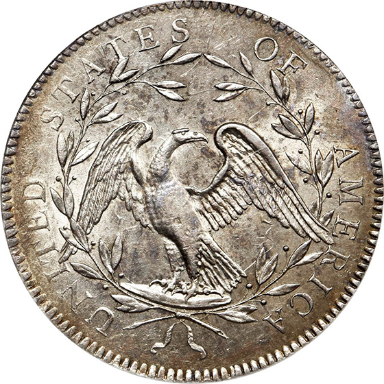Picture of 1794 FLOWING HAIR $1 MS62