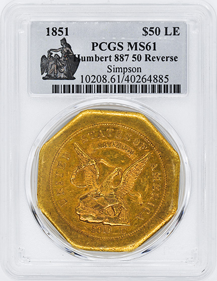 Picture of 1851 887 50 REVERSE HUMBERT $50 LE MS61