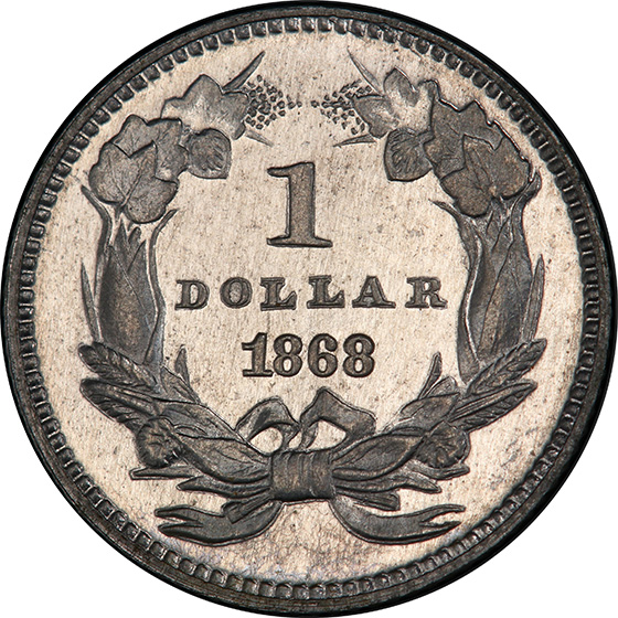 Picture of 1868 G$1 J-653 PR65