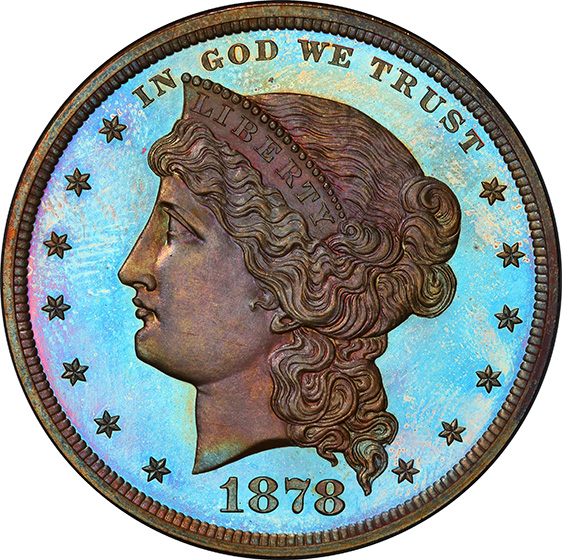 Picture of 1878 SILVER $1, J-1555 PR67+ Red Brown