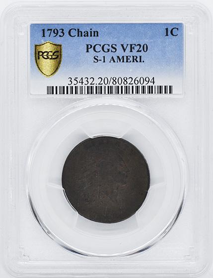 Picture of 1793 CHAIN 1C, AMERI. VF20