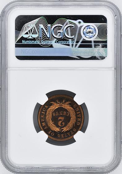 Picture of 1873 2C, CLOSED 3 PR66 Cameo