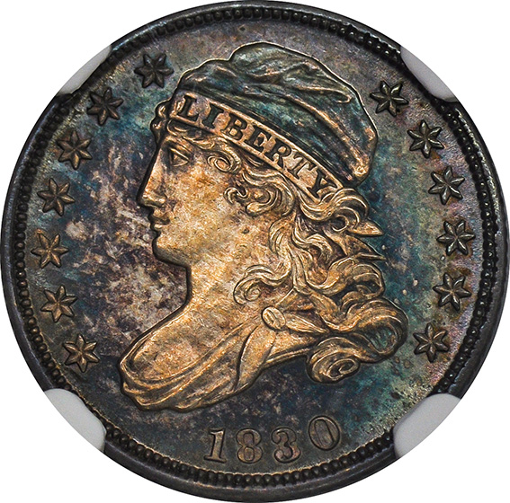 Picture of 1830 CAPPED BUST 10C PR66