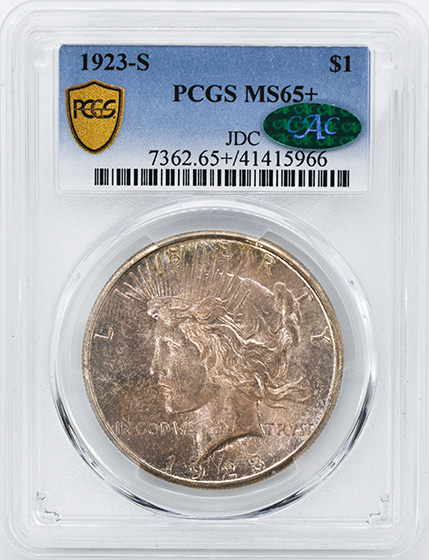 Picture of 1923-S PEACE $1 MS65+