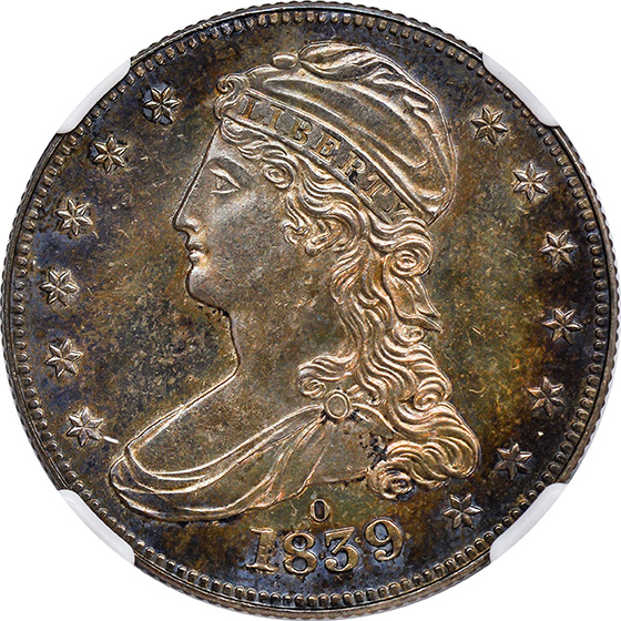 Picture of 1839-O CAPPED BUST 50C PR64+