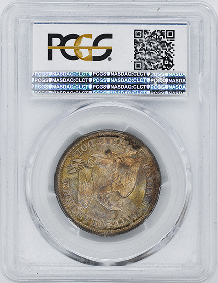 Picture of 1846-O LIBERTY SEATED 50C, TALL DATE MS62