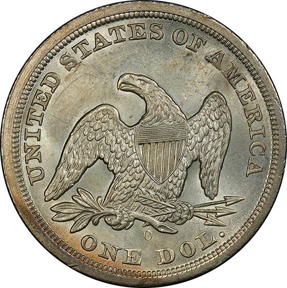Picture of 1846-O LIBERTY SEATED S$1, NO MOTTO MS63
