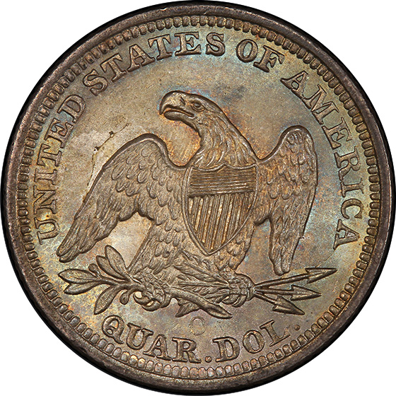 Picture of 1860-O LIBERTY SEATED 25C, NO MOTTO MS66