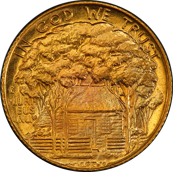 Picture of 1922 GOLD G$1, GRANT, WITH STAR MS68