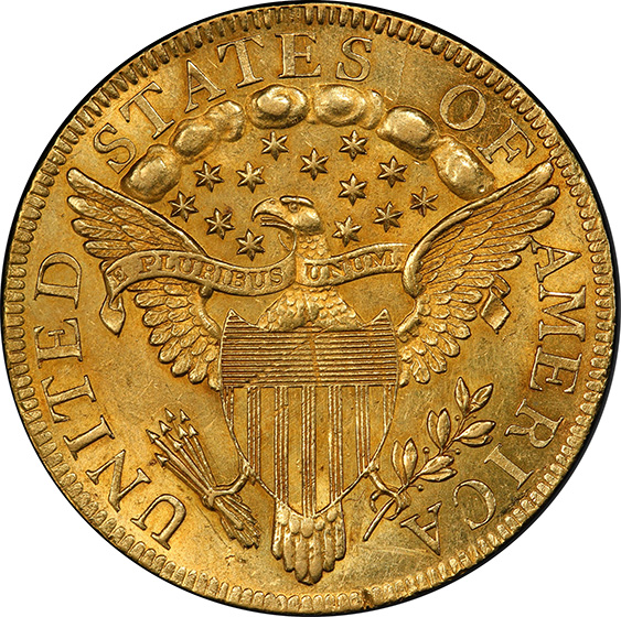 Picture of 1797 DRAPED BUST $10, LARGE EAGLE MS61