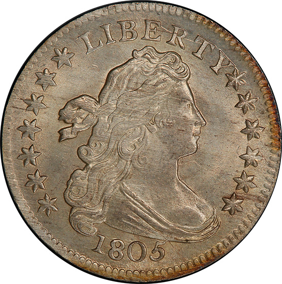 Picture of 1805 DRAPED BUST 10C, 4 BERRIES MS66