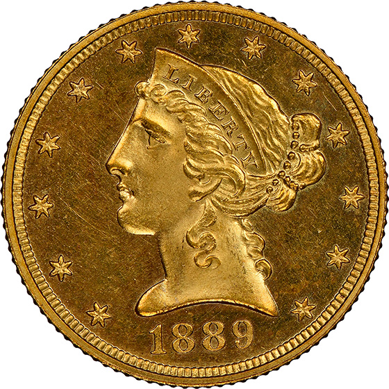 Picture of 1889 LIBERTY $5 PR66 Cameo
