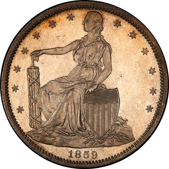 Picture of 1859 PAQUET 50C J-249 PR64 Cameo