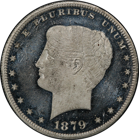 Picture of 1879 GOLOID METRIC $1 PR64+ Cameo