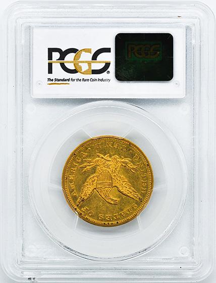 Picture of 1850-O LIBERTY HEAD $10 AU58