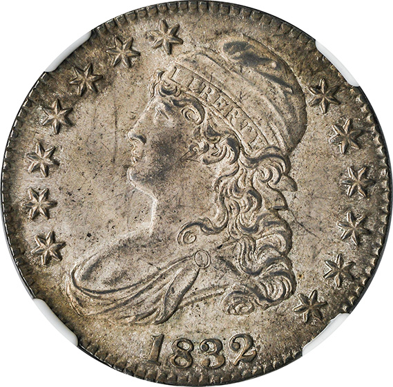 Picture of 1832 CAPPED BUST 50C, SMALL LETTERS MS65