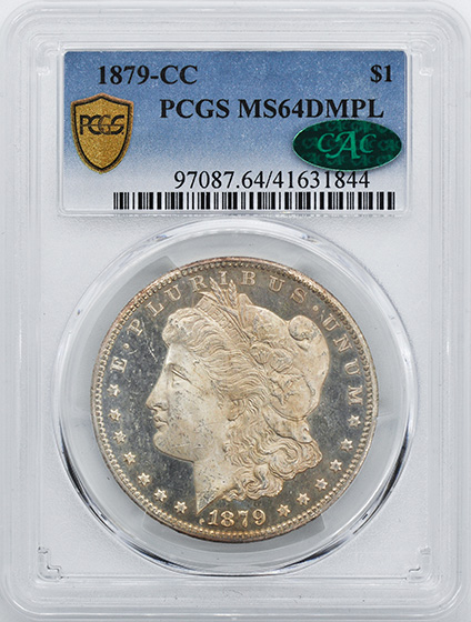 Picture of 1879-CC MORGAN S$1 MS64 DMPL