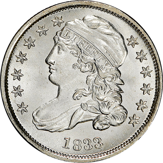 Picture of 1833 CAPPED BUST 10C MS66