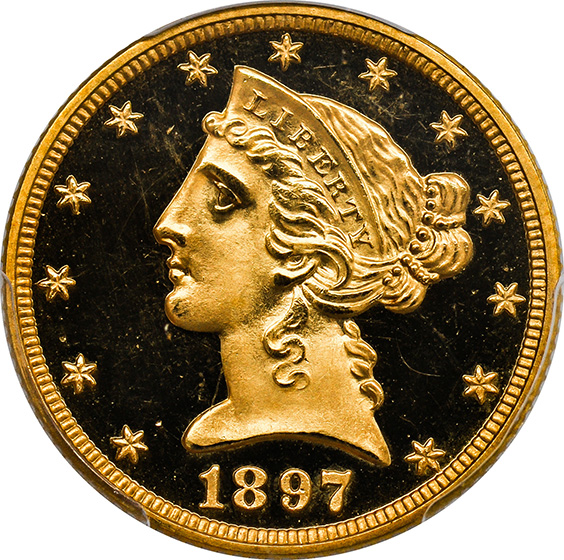 Picture of 1897 LIBERTY $5 PR66 Deep Cameo
